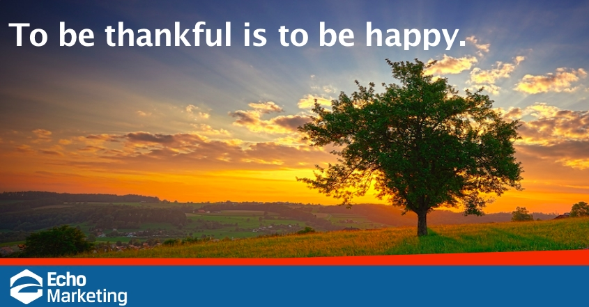 To Be Thankful is To Be Happy